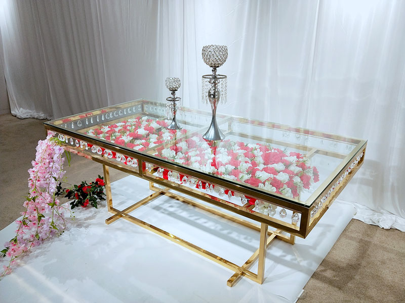 Perfect Wedding Furniture glass round wedding tables wholesale for wedding ceremony-4