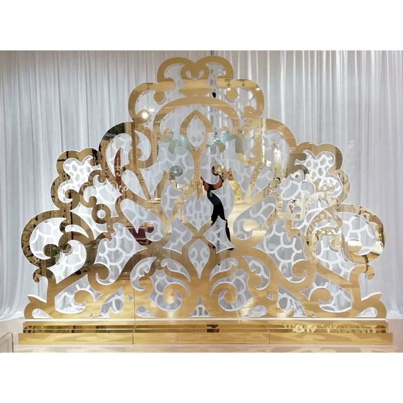 Perfect Wedding Furniture gold wedding screen decorations Suppliers for hotel-1