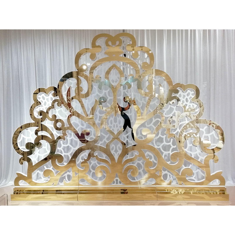 Perfect Wedding Furniture gold wedding screen decorations Suppliers for hotel