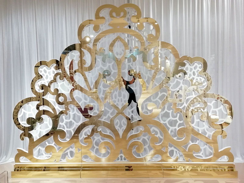 Perfect Wedding Furniture gold wedding screen decorations Suppliers for hotel-3