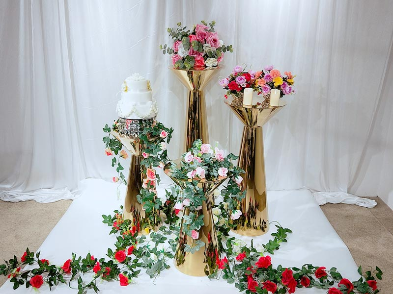 Perfect Wedding Furniture pedestal floral stand manufacturers for home-3