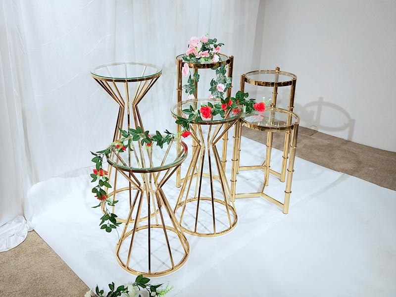 Top gold flower stand pedestal manufacturers for wedding ceremony-2