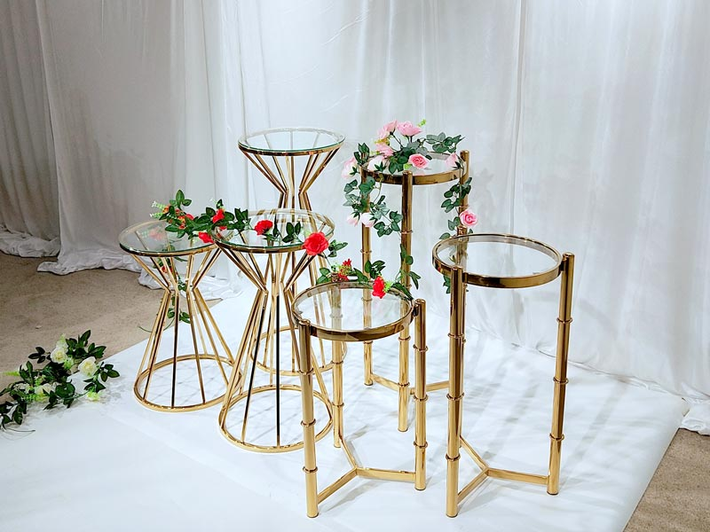 Top gold flower stand pedestal manufacturers for wedding ceremony-4
