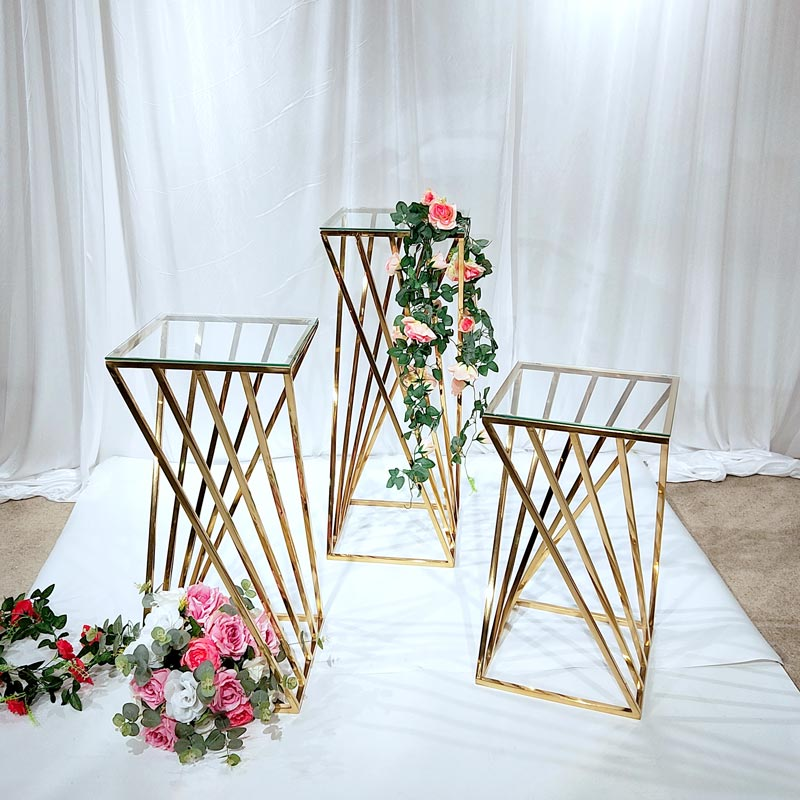 Perfect Wedding Furniture Top gold flower stand Suppliers for home-1