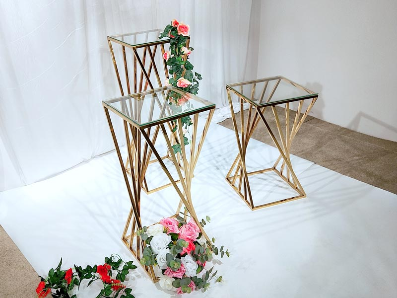 Perfect Wedding Furniture Top gold flower stand Suppliers for home-2