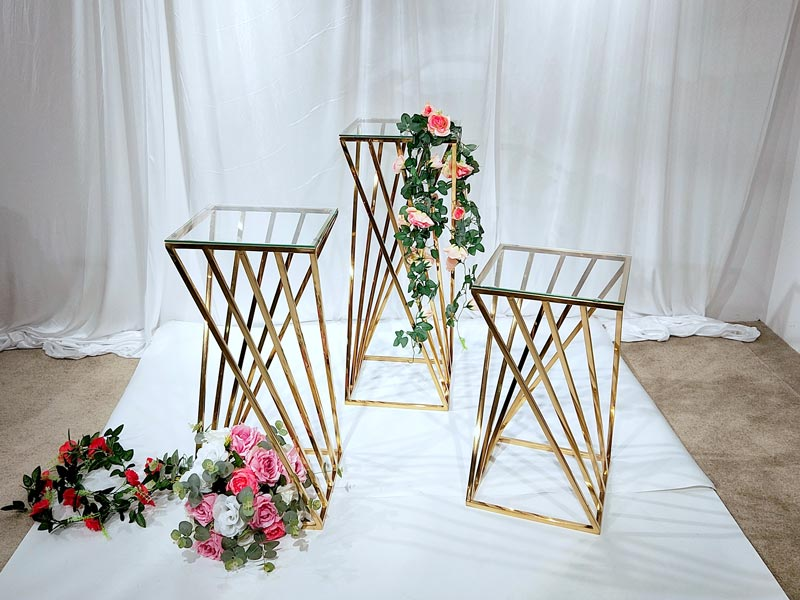 Perfect Wedding Furniture Top gold flower stand Suppliers for home-3