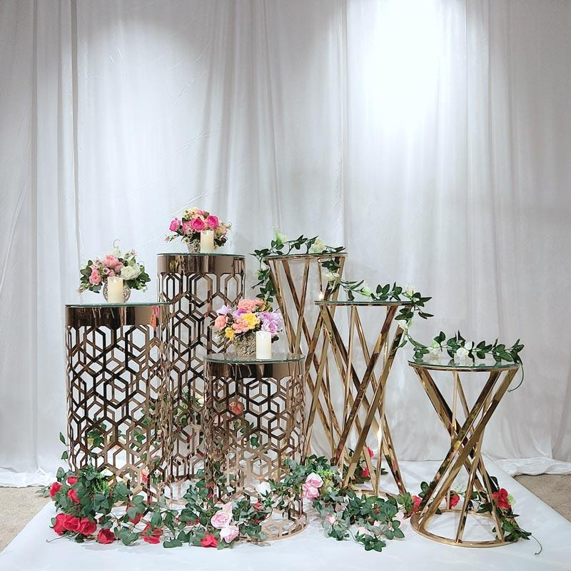 Perfect Wedding Furniture gold flower stand manufacturers for home-1