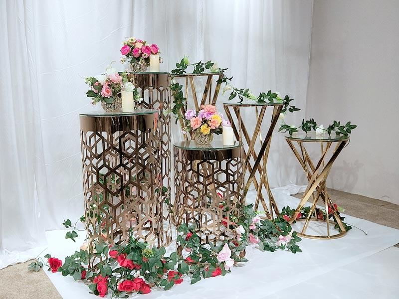Perfect Wedding Furniture high quality tall floral stand glass for wedding ceremony