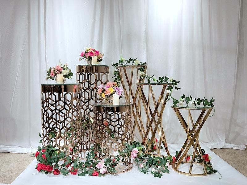 Perfect Wedding Furniture gold flower stand manufacturers for home-3