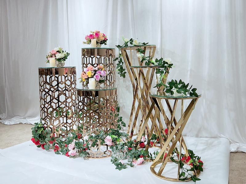 Perfect Wedding Furniture high quality tall floral stand glass for wedding ceremony-4