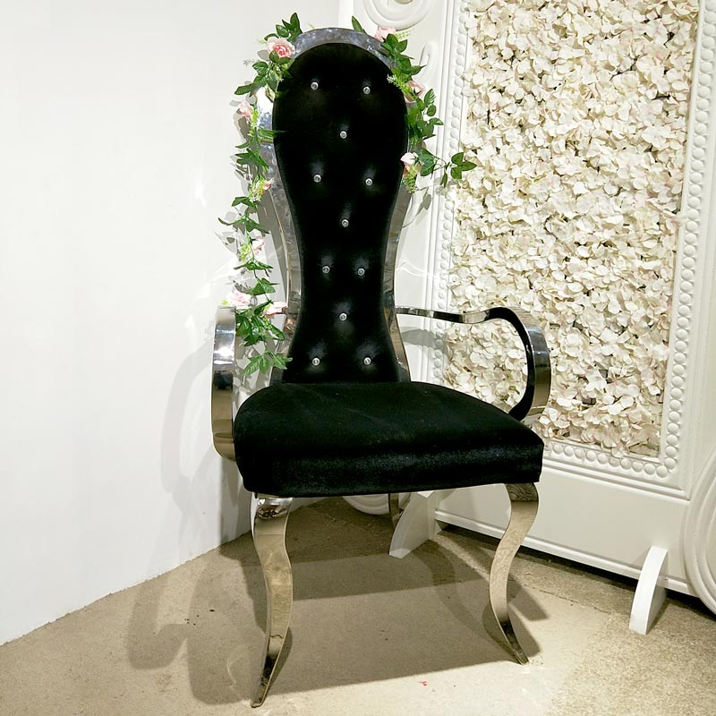 Custom king and queen chairs throne Supply for wedding ceremony-1