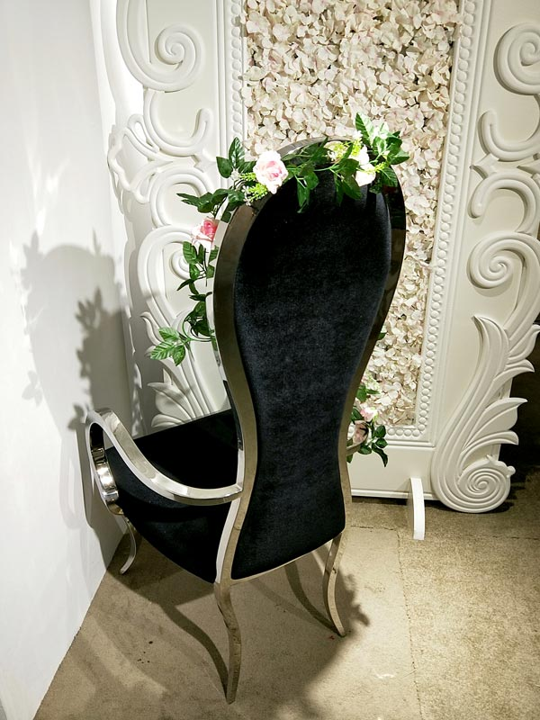 Custom king and queen chairs throne Supply for wedding ceremony-3