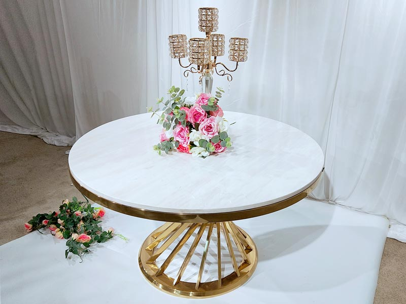 customized wedding party table gold supplier for hotel-4