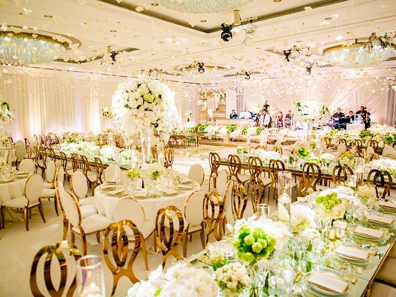 customized wedding party table gold supplier for hotel