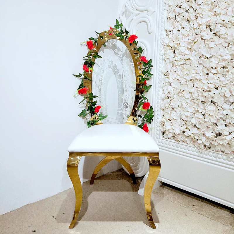 Perfect Wedding Furniture back gold wedding chairs manufacturers for hotel-3