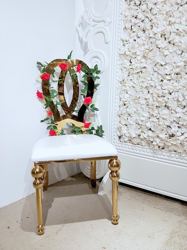 Perfect Wedding Furniture gold wedding chairs for bride and groom factory for hotel