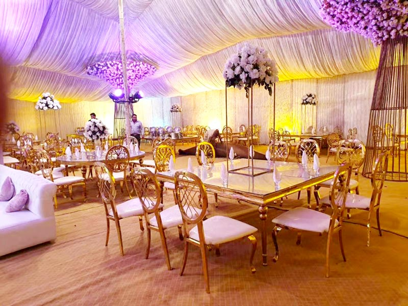 Perfect Wedding Furniture gold wedding chairs for bride and groom factory for hotel-6
