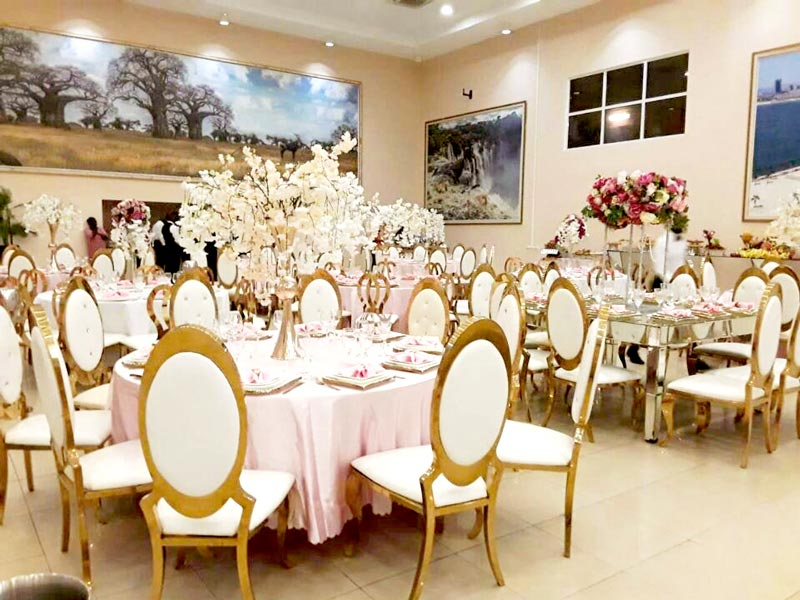 Perfect Wedding Furniture gold wedding chairs for bride and groom factory for hotel-7