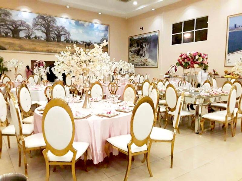 steel wedding party chairs to meet your needs for hotel Perfect Wedding Furniture