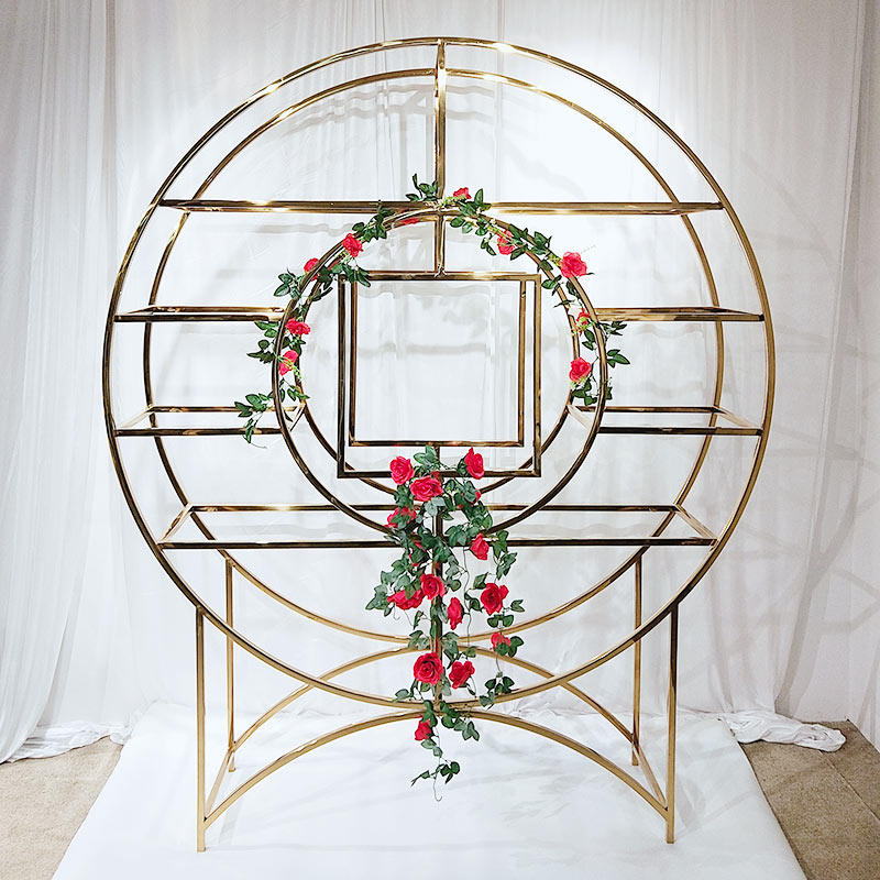 Perfect Wedding Furniture steel circle shelf to place your precious trinkets for indoors