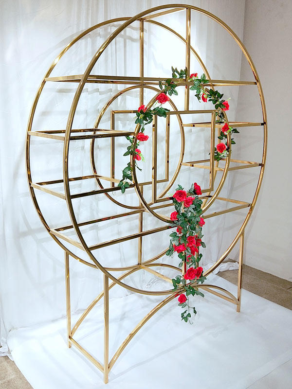 gold decorative shelving units stainless for indoors Perfect Wedding Furniture