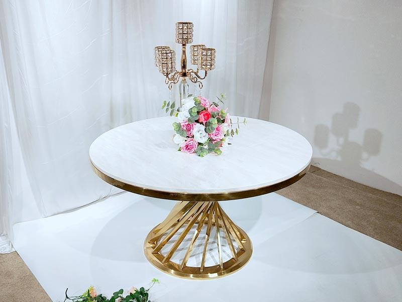 customized wedding party table gold supplier for hotel-3