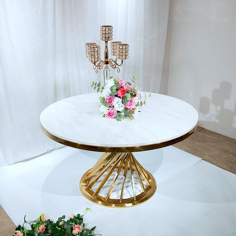 customized wedding party table gold supplier for hotel-1
