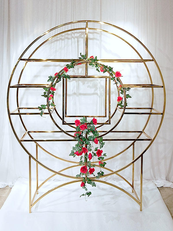 Perfect Wedding Furniture steel circle shelf to place your precious trinkets for indoors-2