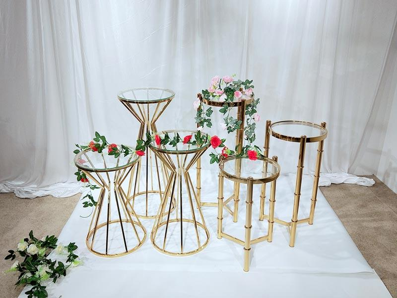 durable floral stand stainless series for hotel-3
