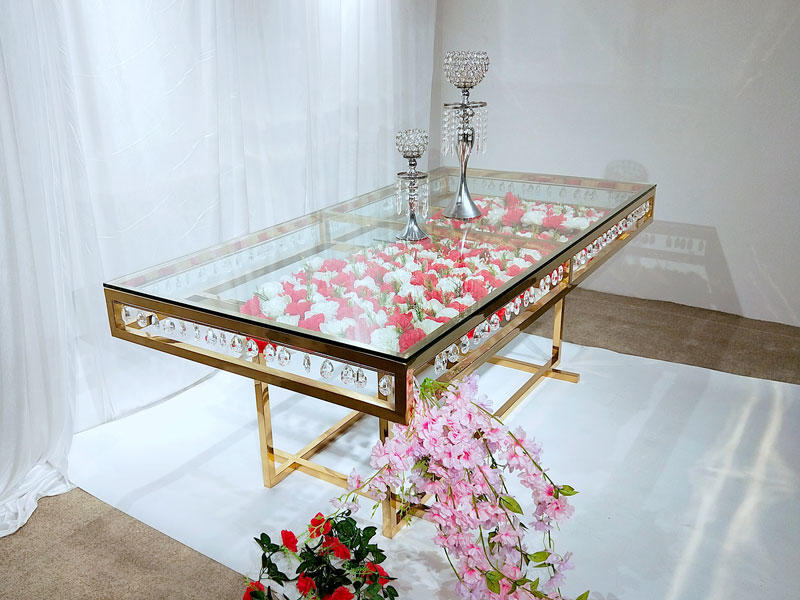 Perfect Wedding Furniture glass round wedding tables wholesale for wedding ceremony-2
