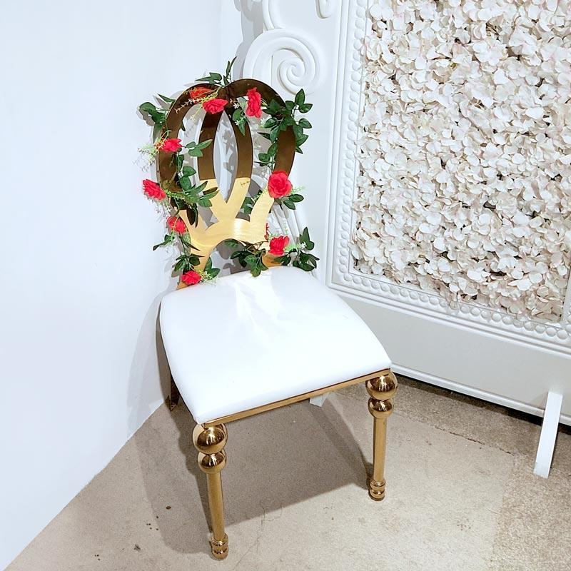Perfect Wedding Furniture gold wedding chairs for bride and groom factory for hotel-1