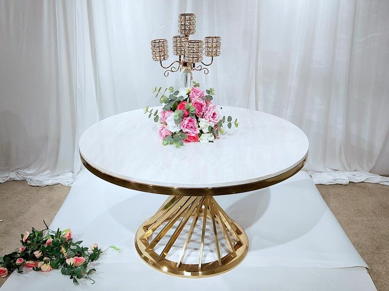 customized wedding party table gold supplier for hotel-2